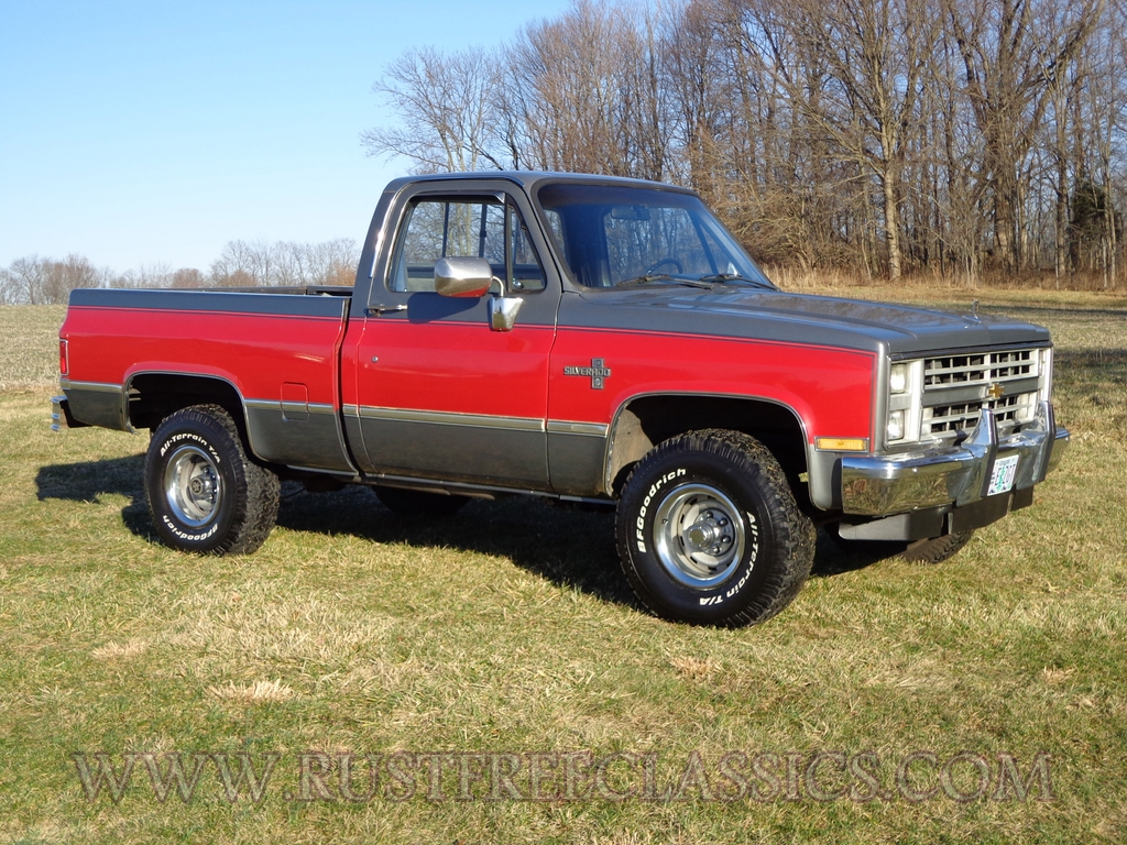 hight resolution of 87 v10 k10 1 2 ton short bed swb silverado fuel injected 4x4 1987 chevy red silver
